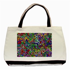 Colorful Abstract Paint Rainbow Basic Tote Bag