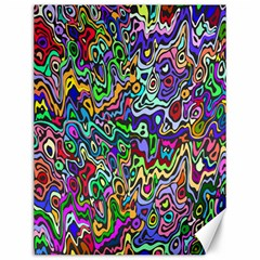 Colorful Abstract Paint Rainbow Canvas 12  x 16