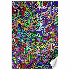 Colorful Abstract Paint Rainbow Canvas 12  x 18