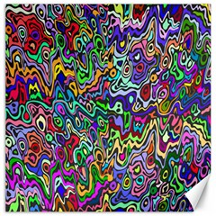 Colorful Abstract Paint Rainbow Canvas 20  x 20