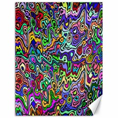 Colorful Abstract Paint Rainbow Canvas 18  x 24