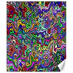 Colorful Abstract Paint Rainbow Canvas 20  x 24