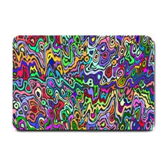 Colorful Abstract Paint Rainbow Small Doormat