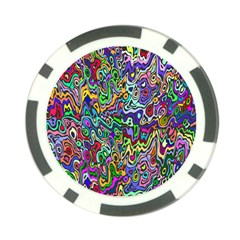 Colorful Abstract Paint Rainbow Poker Chip Card Guard
