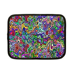 Colorful Abstract Paint Rainbow Netbook Case (Small)
