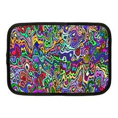 Colorful Abstract Paint Rainbow Netbook Case (Medium)