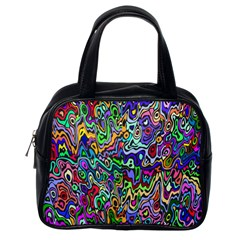 Colorful Abstract Paint Rainbow Classic Handbags (One Side)