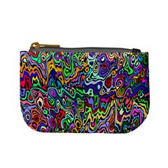 Colorful Abstract Paint Rainbow Mini Coin Purses