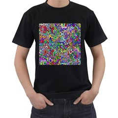 Colorful Abstract Paint Rainbow Men s T-Shirt (Black)