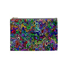 Colorful Abstract Paint Rainbow Cosmetic Bag (Medium)