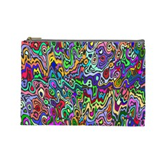 Colorful Abstract Paint Rainbow Cosmetic Bag (Large)