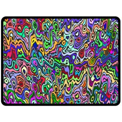 Colorful Abstract Paint Rainbow Fleece Blanket (Large)