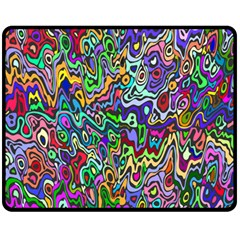 Colorful Abstract Paint Rainbow Fleece Blanket (Medium)
