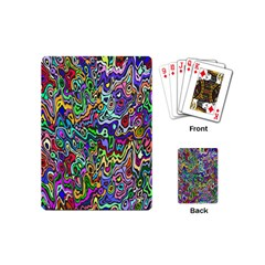 Colorful Abstract Paint Rainbow Playing Cards (Mini)