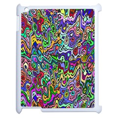 Colorful Abstract Paint Rainbow Apple iPad 2 Case (White)