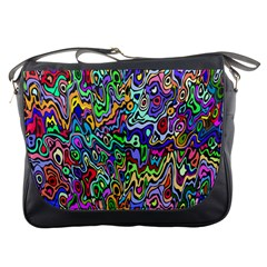 Colorful Abstract Paint Rainbow Messenger Bags