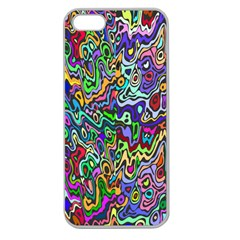 Colorful Abstract Paint Rainbow Apple Seamless iPhone 5 Case (Clear)