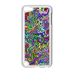 Colorful Abstract Paint Rainbow Apple iPod Touch 5 Case (White)