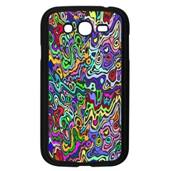 Colorful Abstract Paint Rainbow Samsung Galaxy Grand DUOS I9082 Case (Black)