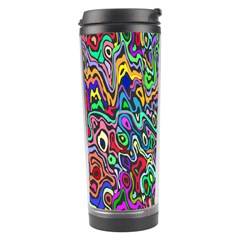 Colorful Abstract Paint Rainbow Travel Tumbler