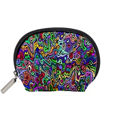 Colorful Abstract Paint Rainbow Accessory Pouches (small)