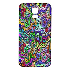 Colorful Abstract Paint Rainbow Samsung Galaxy S5 Back Case (white)
