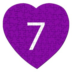 Number 7 Purple Jigsaw Puzzle (Heart)