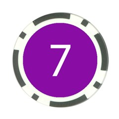 Number 7 Purple Poker Chip Card Guard