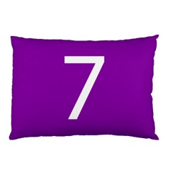 Number 7 Purple Pillow Case