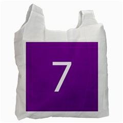 Number 7 Purple Recycle Bag (One Side)