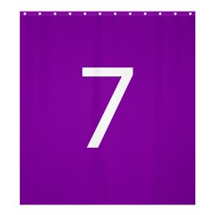 Number 7 Purple Shower Curtain 66  x 72  (Large)