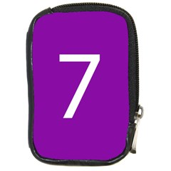 Number 7 Purple Compact Camera Cases