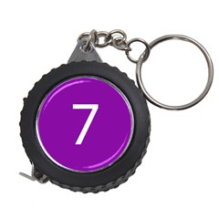 Number 7 Purple Measuring Tapes