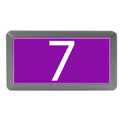 Number 7 Purple Memory Card Reader (Mini)