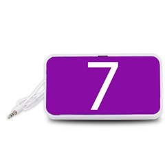 Number 7 Purple Portable Speaker (White)
