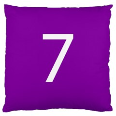 Number 7 Purple Large Cushion Case (One Side)