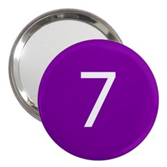Number 7 Purple 3  Handbag Mirrors