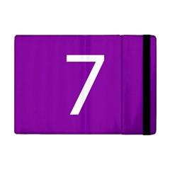 Number 7 Purple Apple iPad Mini Flip Case