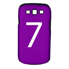 Number 7 Purple Samsung Galaxy S III Classic Hardshell Case (PC+Silicone)