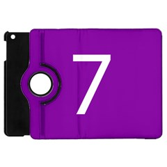 Number 7 Purple Apple iPad Mini Flip 360 Case