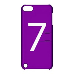 Number 7 Purple Apple iPod Touch 5 Hardshell Case with Stand