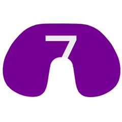 Number 7 Purple Travel Neck Pillows