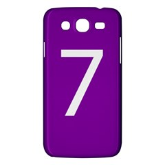 Number 7 Purple Samsung Galaxy Mega 5.8 I9152 Hardshell Case