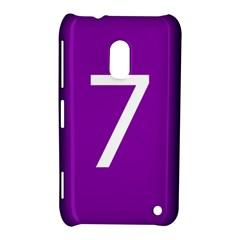 Number 7 Purple Nokia Lumia 620