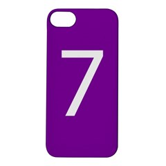 Number 7 Purple Apple iPhone 5S/ SE Hardshell Case