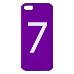 Number 7 Purple iPhone 5S/ SE Premium Hardshell Case
