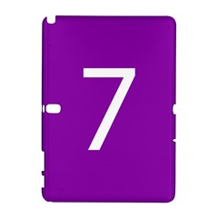 Number 7 Purple Galaxy Note 1