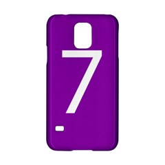 Number 7 Purple Samsung Galaxy S5 Hardshell Case