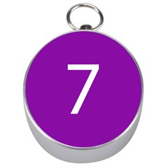 Number 7 Purple Silver Compasses