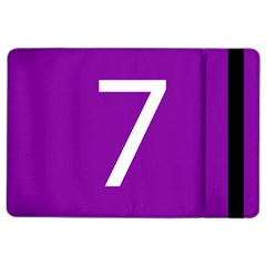 Number 7 Purple iPad Air 2 Flip